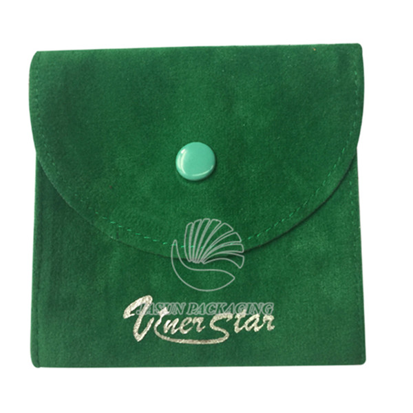 Custom wholesale velvet packing bags with gold screen printing for jewellery and gift holder velvet pouch title=