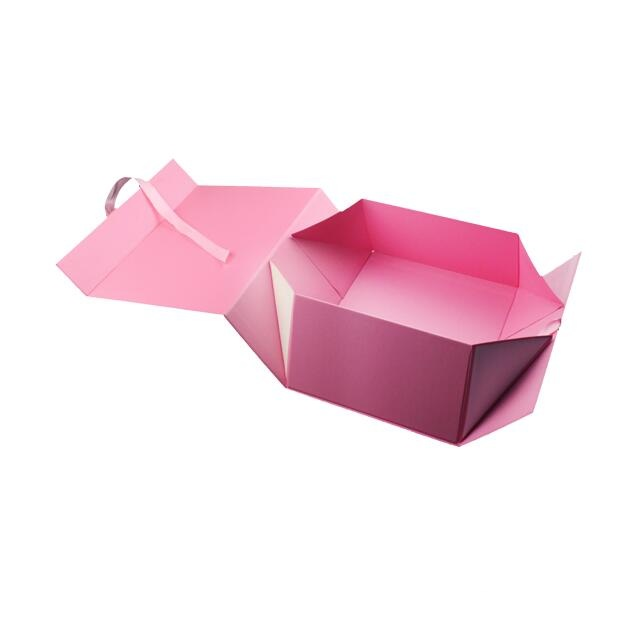 Paper Folding Rigid Carton Gift Box for Garment Cosmetics Packaging title=